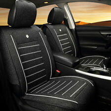 Universal Car Auto Seat Cover Cushion 5-Seats Front + Rear Linen Fabric Interior