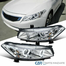LED DRL Halo For Honda 08-12 Accord 2Dr Coupe Chrome Projector Headlights EX/LX