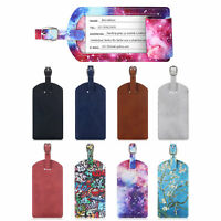 2PCS Privacy Luggage Tags Name Card Holder Travel Bag Suitcase Backpack Labels