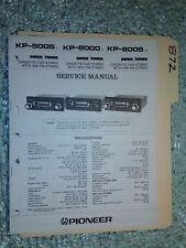 Pioneer kp-5005 8000 8005 service manual original repair book stereo car radio