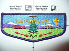 OA Langundowi Lodge 46,S-3b,1980s Restricted Flap,PB,French Creek Counci,Erie,PA