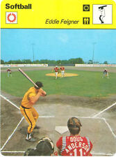 EDDIE FEIGNER 1979 Sportscaster Card #53-16 High # SOFTBALL