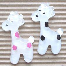 "US SELLER- 10 pc x 1.5"" Resin Giraffe Flatback Beads for Bows/Zoo/Appliques SB78"