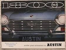 AUSTIN 1800 Mk II BMC Car Sales Brochure c1968 #2508