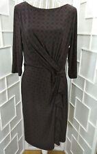 Sz 16 Lauren Ralph Lauren Scoop Neck 3/4 Sleeve Ruched Waist Knee Length Dress
