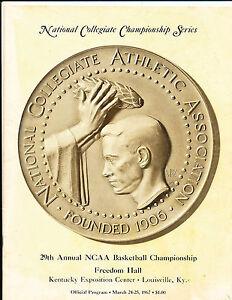 1967 NCAA Basketball Final Championship Program