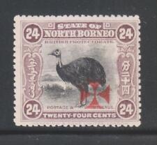 NORTH BORNEO 1916, 24c DULL MAUVE SG212 MINT STAMP.