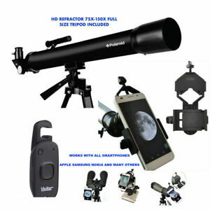 150X TELESCOPE + TRIPOD LUNAR AND STAR OBSERVATION + SMARTPHONE MOUNT+REMOTE