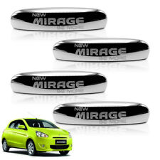 Door Handle Cover Chrome 4 Pc For Mitsubishi Mirage Space Star 2012 2014 - 2017