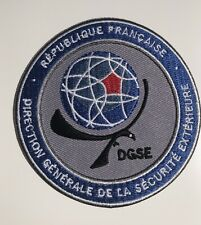 DGSE ( French Secret Police  Agency) 85mm PATCH +  STICKER