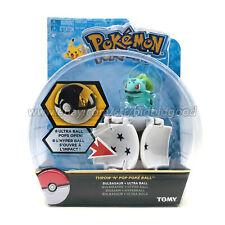 Tomy Pokemon Bulbasaur Throw N Pop Ultra Ball Poke Action Figure Child Gift Toys