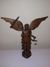 Mexican Handmade Wood Carved St. Michael rom Mexico