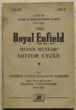 ROYAL ENFIELD SUPER METEOR Motorcycle Illus Spare Parts List June 1961 #780