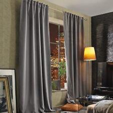 3-in-1 Vorhang Thermo Dimo-Out Akustik Vorhang mit Multifunktionsband 2lagig gra