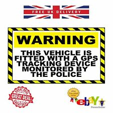 2 X GPS Tracking Warning Stickers CAR MOTORBIKE VAN EXTRA LARGE 300mm x 200mm A4