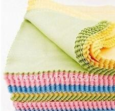 10pcs Chiffon de Nettoyage pour Lunettes Ecran 13.5x14.5cm, Mixte couleur
