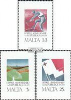 Malta 521-523 (kompl.Ausg.) postfrisch 1975 1 Jahr Republik