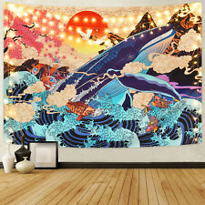 Colorful Watercolor Tapestry Art Wall Hanging Colored Tapestry Family Room Decor