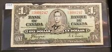 Canada 1937 1 Dollar Banknote - Coyne/Towers - George VI