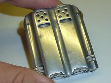 Vintage Duplex Aluminium Lighter-Double Barrel-Massif Aluminium-Angleterre