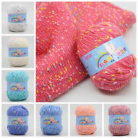 High Quality 21 Colors 50g Knitting Crochet Milk Soft Baby Cotton Wool Yarn