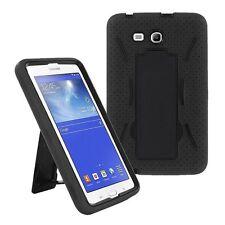 Black Hybrid Hard Case Skin Cover For Samsung Galaxy Tab 3 E Lite 7.0 T110
