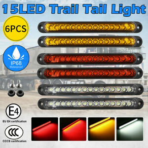 Tray Back Ute 15LED 6X Trail Tail Lights For MAZDA TOYOTA ISUZU HILUX MITSUBIS