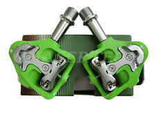 Wellgo MG-8 Magnesium Road Bicycle Bike Clipless Pedals Cr-Mo Axle Green