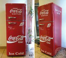 Retro Kühlschrank Gefrierkombination Rot Coca Cola Bottles K6 Bomann DTR 353 A++