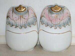 Two Vintage Italian Art Vases Scalloped shape. Ht: 24 cm. Excellent Condition.