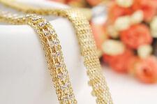Ceinture pour femmes 2 rangs Diamant Mess Chaîne de taille strass or 1 Unique