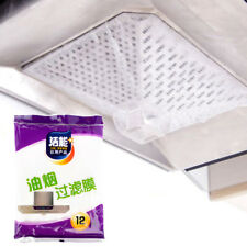 12x Universal Cooker Hood Extractor Fan Grease Paper Carbon Filter Kitchen Tools