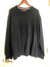 Eddie Bauer 100% cotton men's sweater Black size Tall 2XL