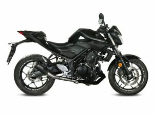 FULL SYSTEM MIVV POWER STEEL MK3 STEEL BLACK YAMAHA MT-03 2016-2020
