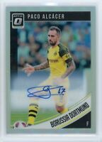 2018-19 Paco Alcacer Auto Panini Donruss Optic Silver Autographs