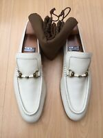 GUCCI MENS SHOES WHITE LEATHER HORSEBIT SNAFFLE LOAFERS UK 8 42 VINTAGE