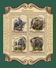 Mozambique 2018 MNH Elephants Elephant 4v M/S Wild Animals Stamps