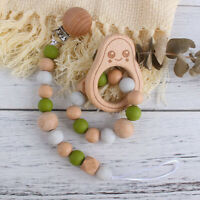 Dummy Pacifier Chain Clip Avocado Beech Silicone Bead Baby Teether Bracelet Toy
