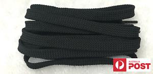 FLAT SHOE LACES approx 140cm - Black - 1 Pair of Shoelaces