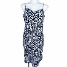 Banana Republic Black White Zebra Women Dress. Size 10. NWT