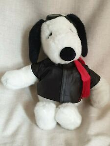 """VINTAGE SNOOPY RED BARON/FLYING ACE OUTFIT 15"""" TALL SOFT TOY"""
