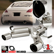 DUAL 4.5/'/'MUFFLER TIP AXLE BACK EXHAUST SYSTEM FOR 03-08 350Z Z33//03-06 G35
