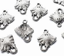 10 x 20mm Silver Stingray Fish Sea Creature Charms Embellishments Nautical Craft