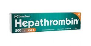Hepathrombin gel 500U i.j.g 40g, Hemofarm