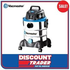 Vacmaster 1250W Wet/Dry Vacuum Cleaner 20L Stainless Tank - VMVQ1220SS