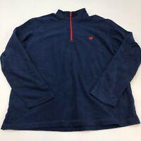 Chaps Sport Fleece Jacket Mens 2XL XXL Navy 1/3 Zip Up Stand Up Neck Insulated
