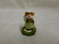 Wee Forest Folk Ice Angel Green M-212 Christmas Retired Mouse