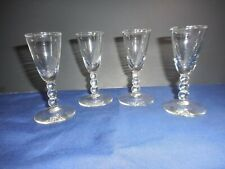 """Set of 4 Libbey Knob Hill Cordial Liquor Cocktail Cordial Glasses 3 5/8"""" Clear"""