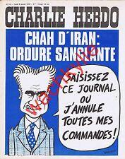 Charlie Hebdo n°216 du 06/01/1975 Chah d'Iran Wolinski Prytanée La Flèche Cabu