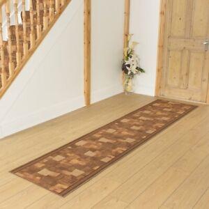 runrug Carpet Runner Rug - Hallway - Width 66cm x 183cm Long - Bora Brown
